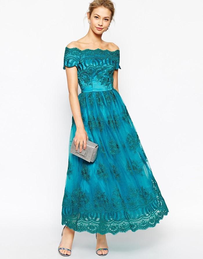 кружевное бирюзовое платья на выпускной 2015