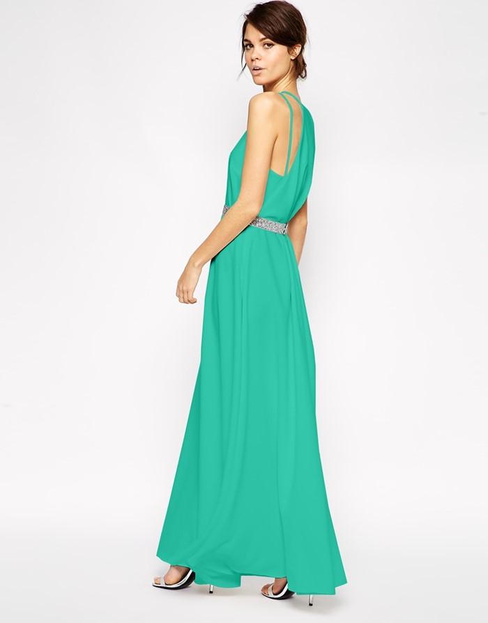 длинное зеленое платье на выпускной 2015