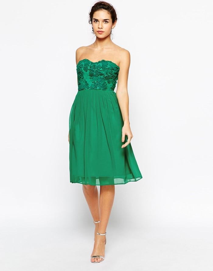 короткие коктейльное зеленое платье на выпускной 2015