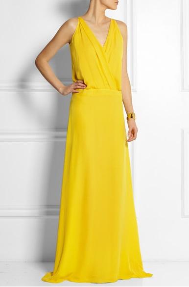 желтые платья на выпускной 2015 (13)