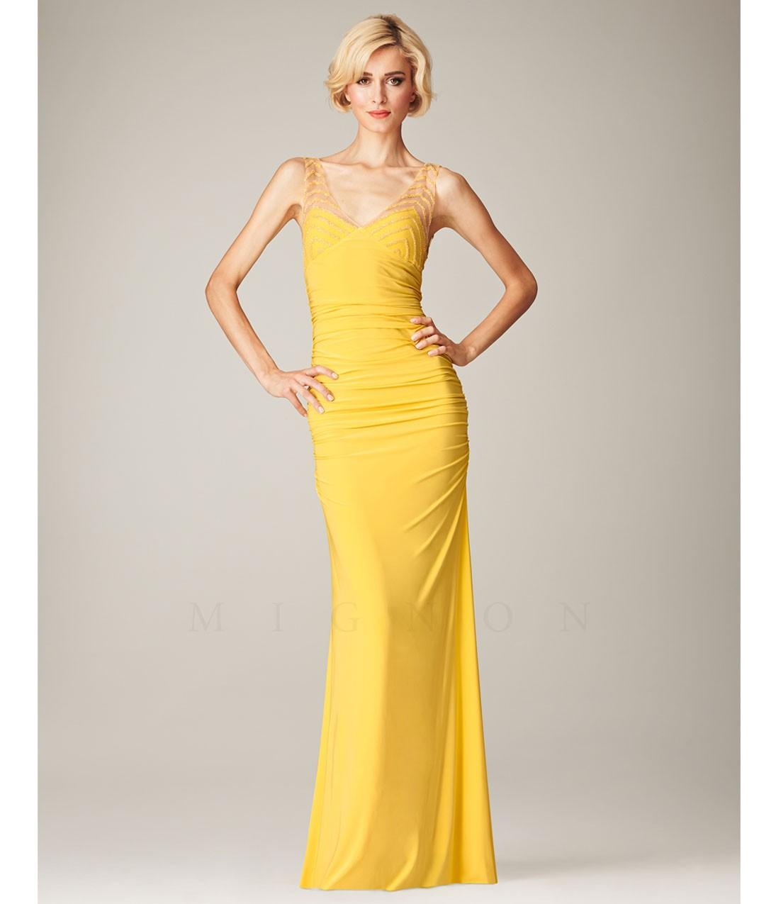 желтые платья на выпускной 2015 (15)