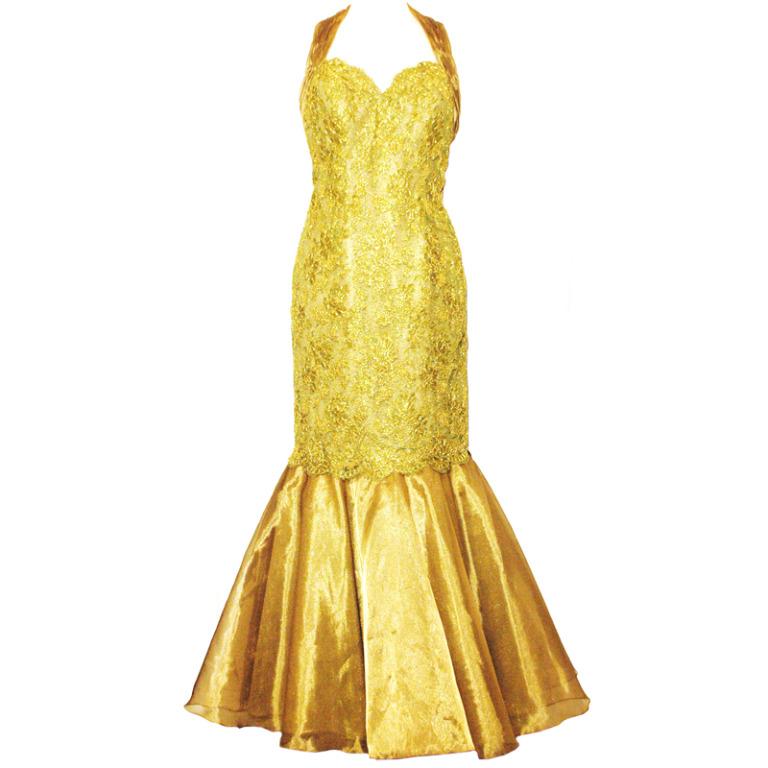 желтые платья на выпускной 2015 (18)