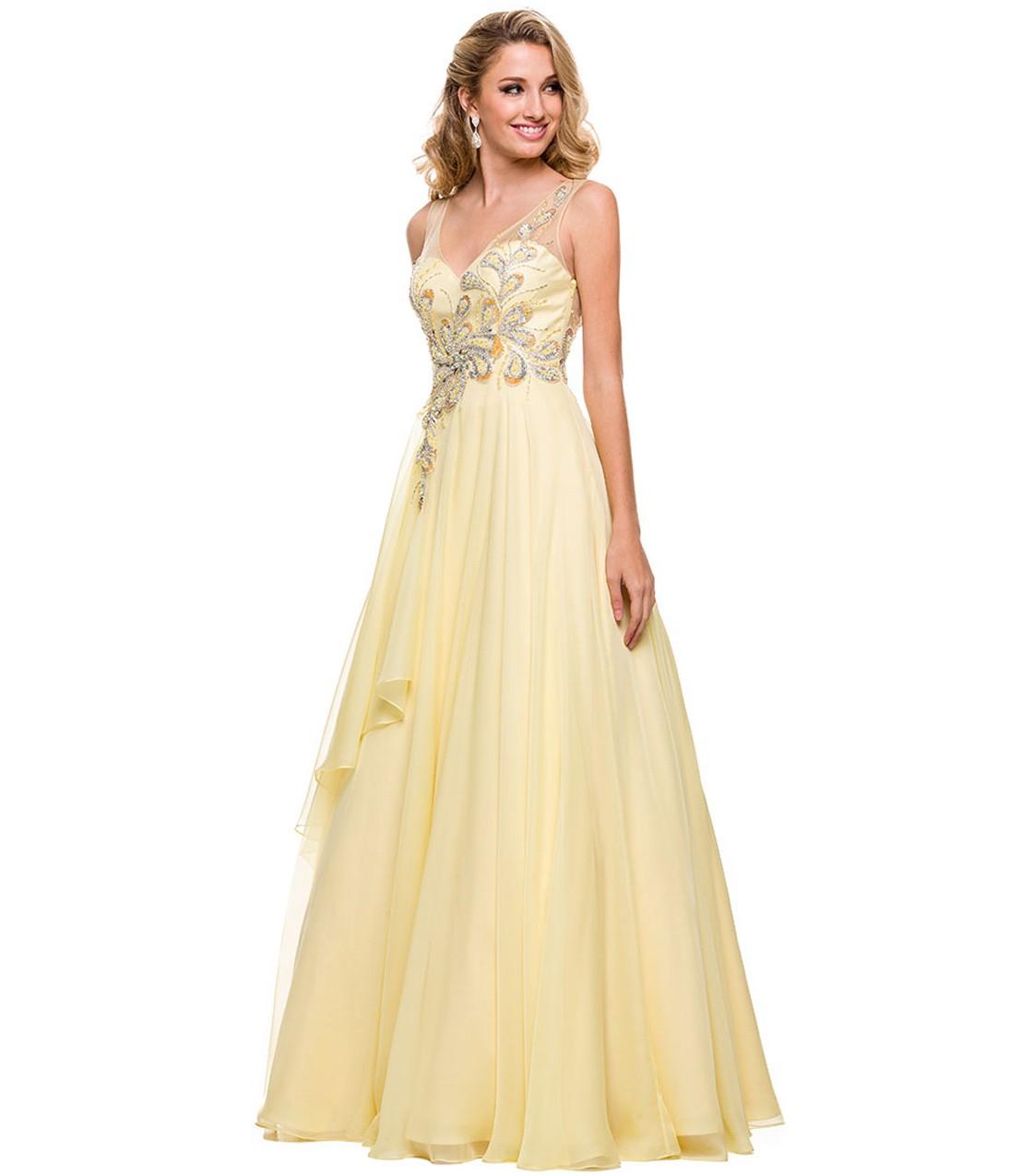 желтые платья на выпускной 2015 (6)
