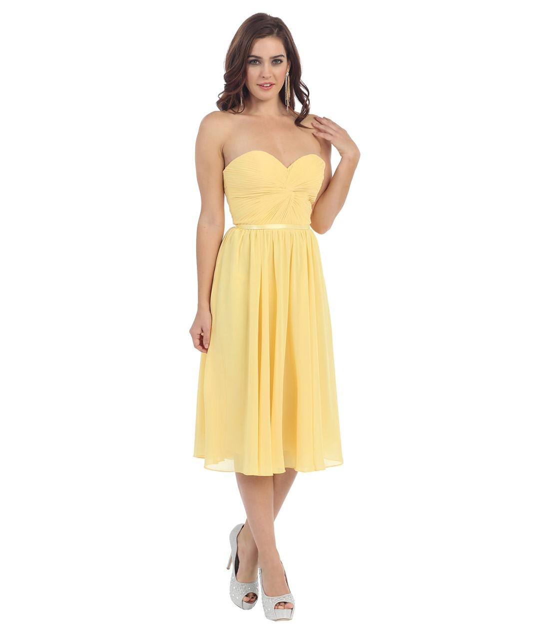 желтые платья на выпускной 2015 (7)
