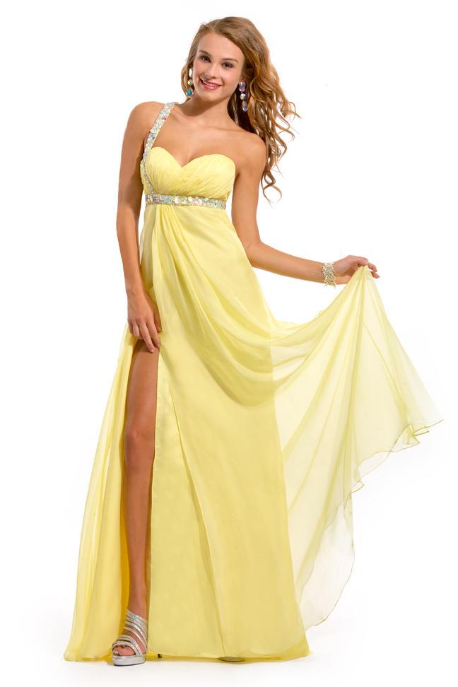 желтые платья на выпускной 2015 (8)