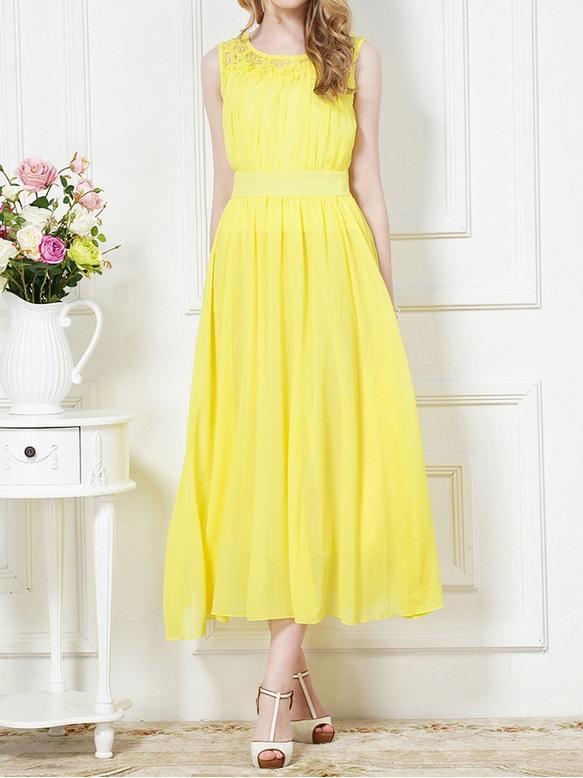 желтые платья на выпускной 2015 (9)