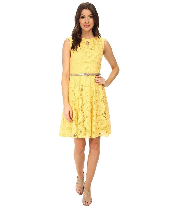желтые платья выпускной 2015-1