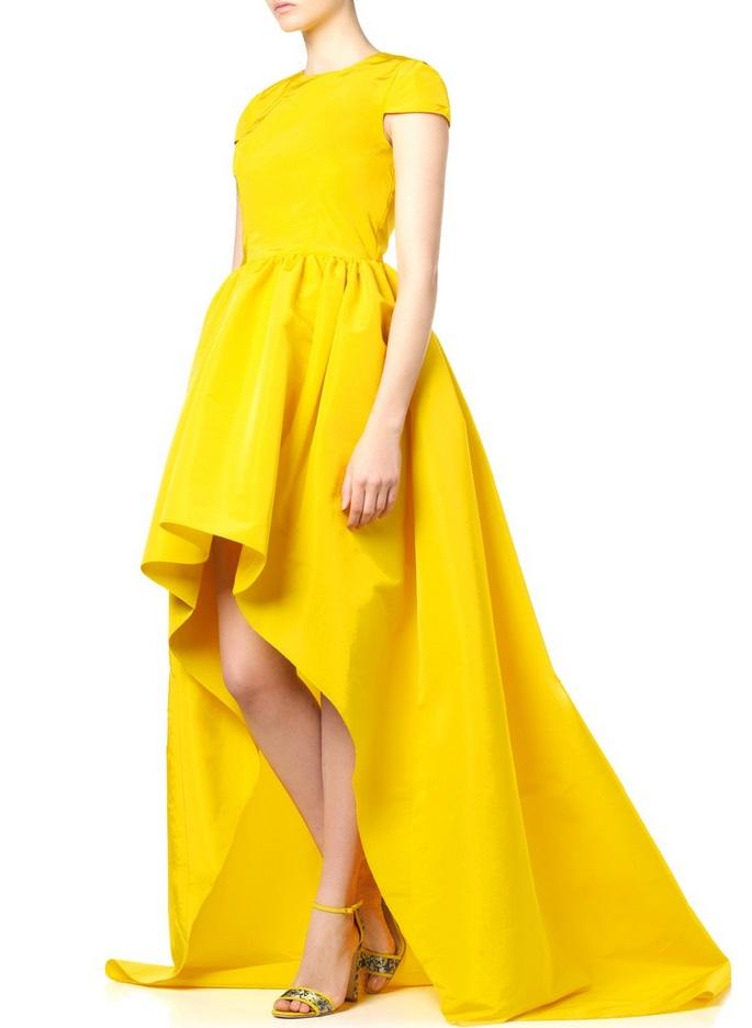 желтые платья выпускной 2015
