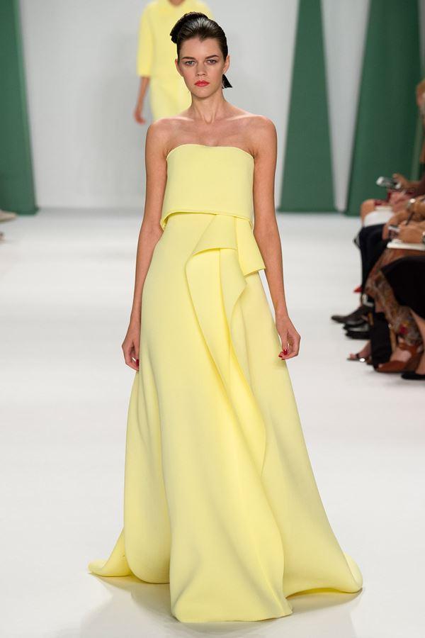 Carolina Herrera желтое платье весна-лето 2015