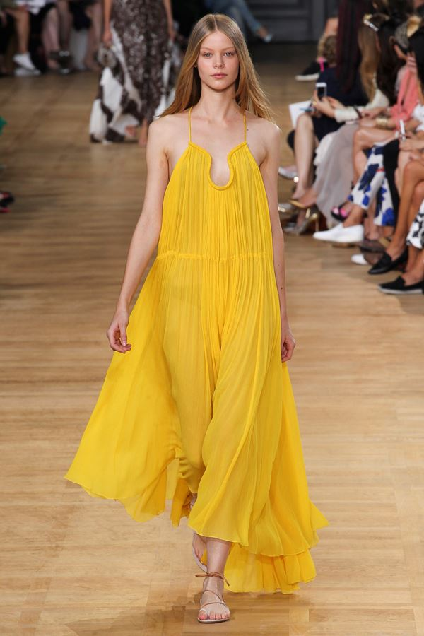 Chloe желтое платье весна-лето 2015