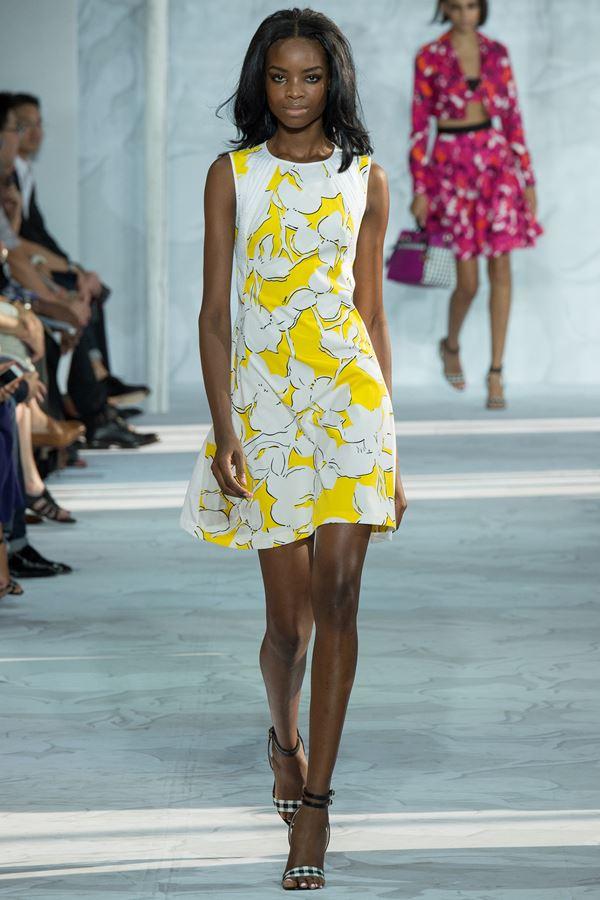 Diane von Furstenberg желтое платье весна-лето 2015