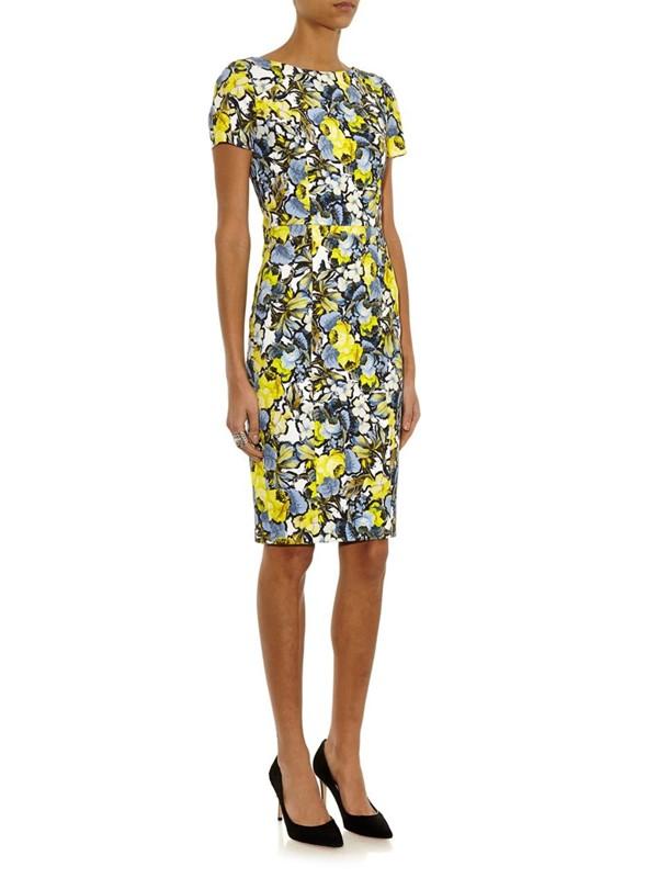 платье с цветочным принтом 2015 Erdem
