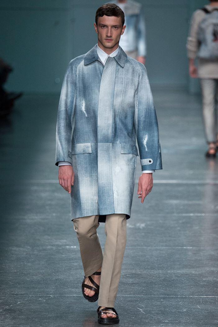 Fendi синее мужское пальто весна-лето 2015