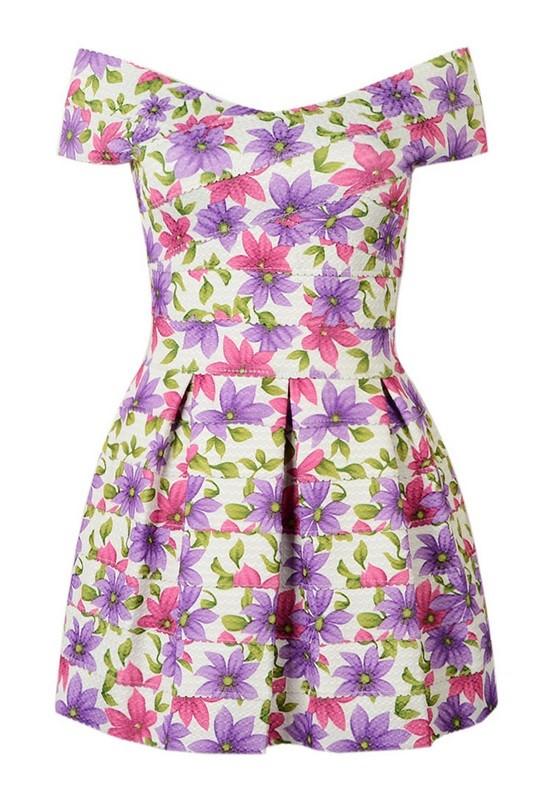 платье с цветочным принтом 2015 First Closet