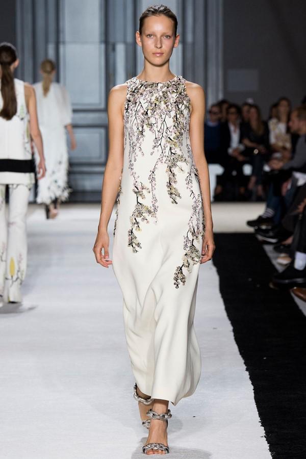 цветочное платье 2015 Giambatista Valli