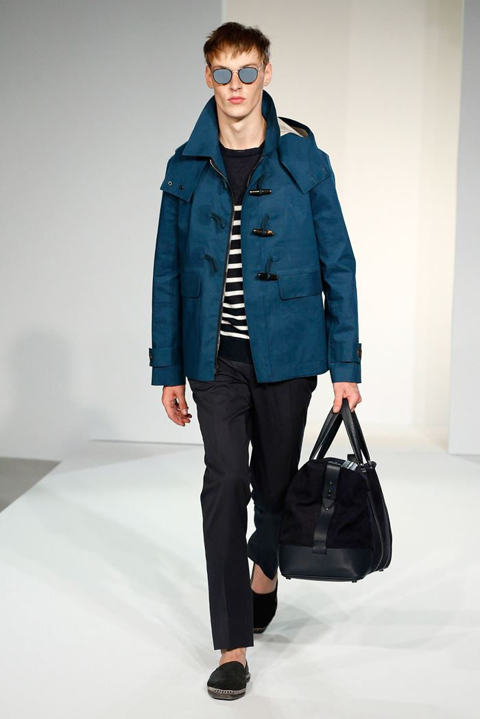 Gieves & Hawkes мужское пальто даффлкот весна-лето 2015