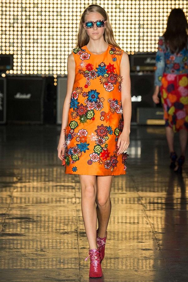 платье с цветочным принтом 2015 House of Holland