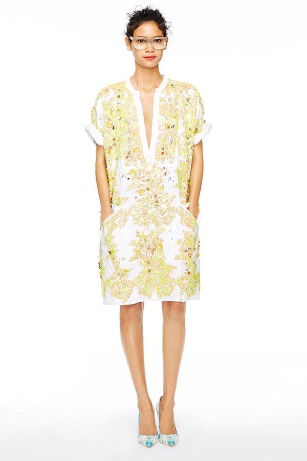 J Crew  желтое платье весна-лето 2015