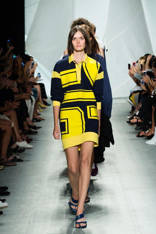 Lacoste  желтое платье весна-лето 2015