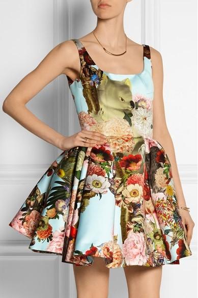 платье с цветочным принтом 2015 Mary Katrantzou