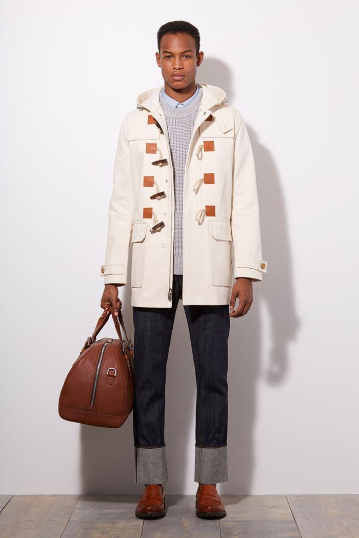 Michael Kors белое мужское пальто даффлкот весна-лето 2015