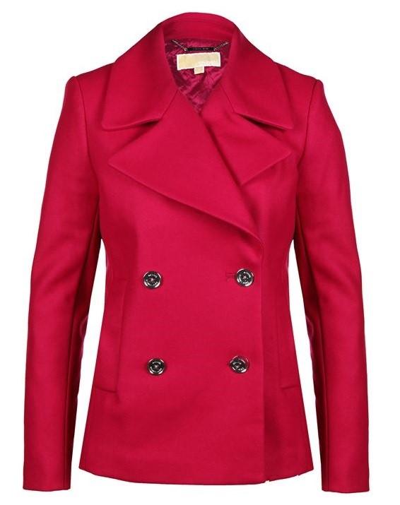 Michael Michael Kors красное пальто-бушлат 2015