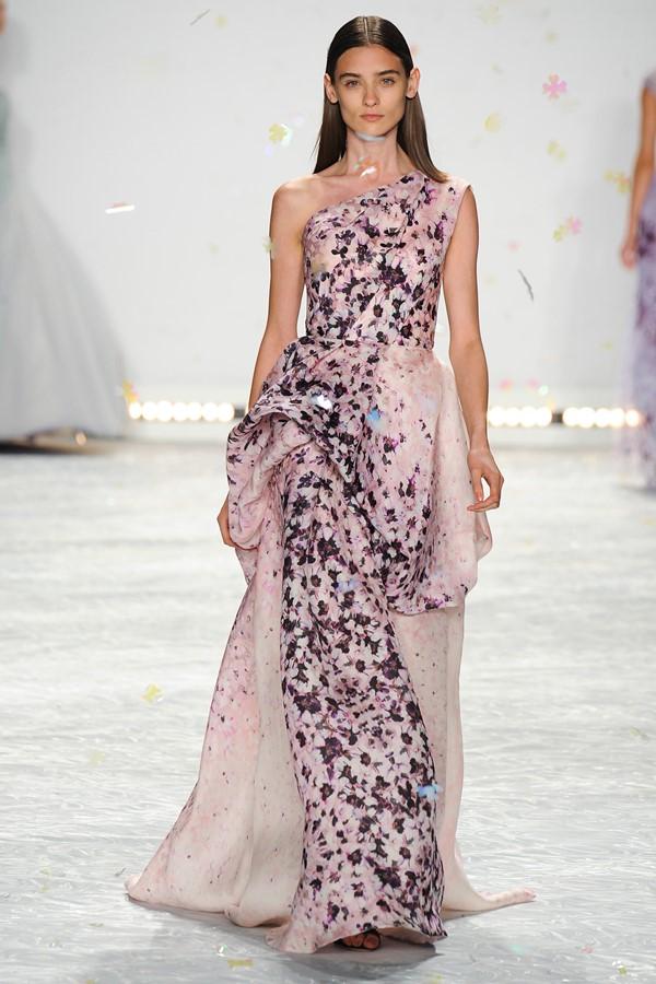 платье с цветочным принтом 2015 Monique Lhuillier