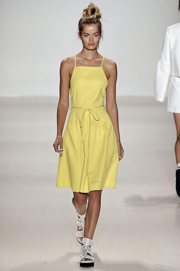 Nanette Lepore желтое платье весна-лето 2015