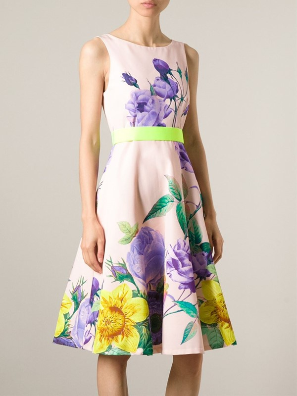 платье с цветочным принтом 2015 P.A.R.O.S.H.