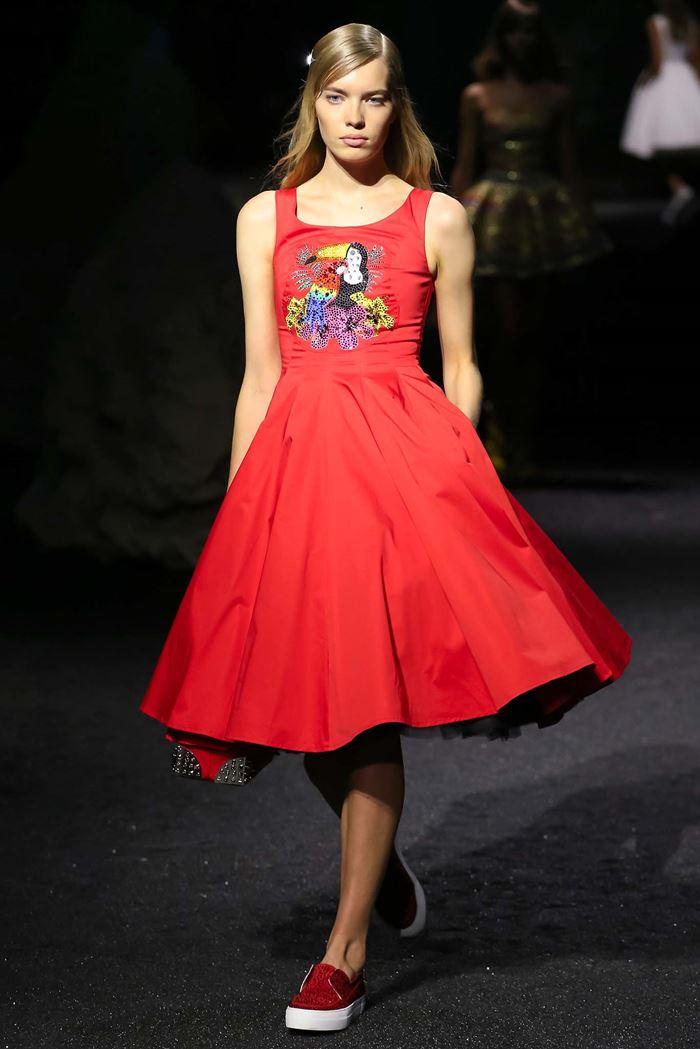 Philipp Plein красное платье весна-лето 2015