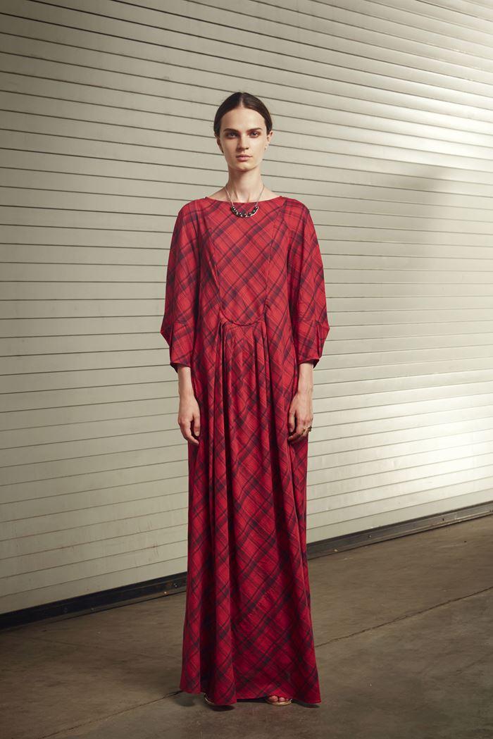 Rachel Comey красное клетчатое платье весна-лето 2015