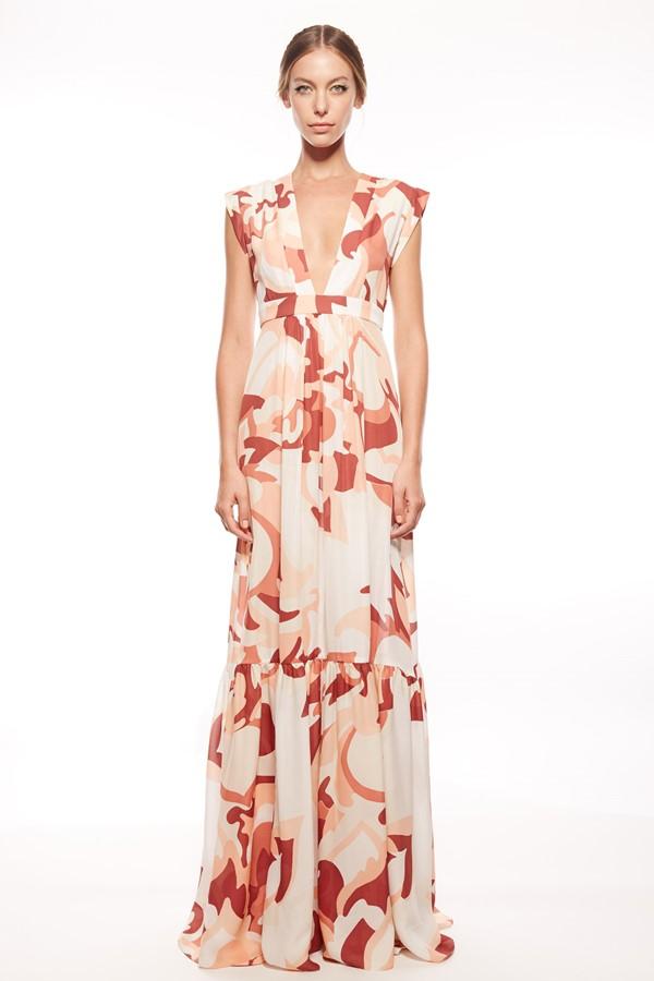 платье с цветочным принтом 2015 Rachel Zoe