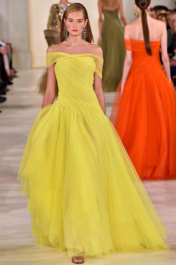 Ralph Lauren желтое платье весна-лето 2015