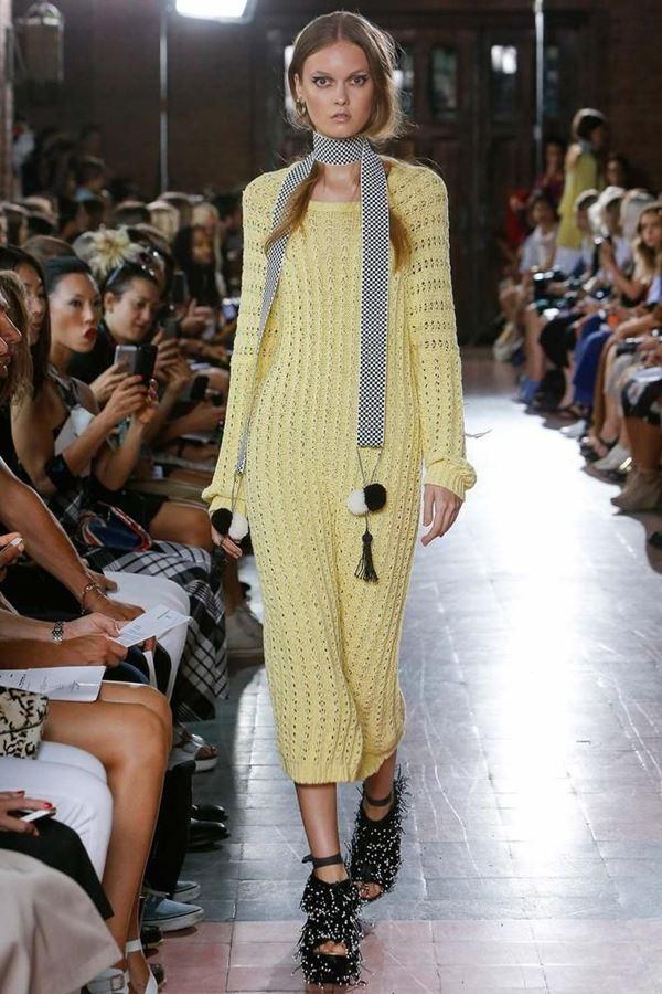 Rodebjer желтое платье весна-лето 2015