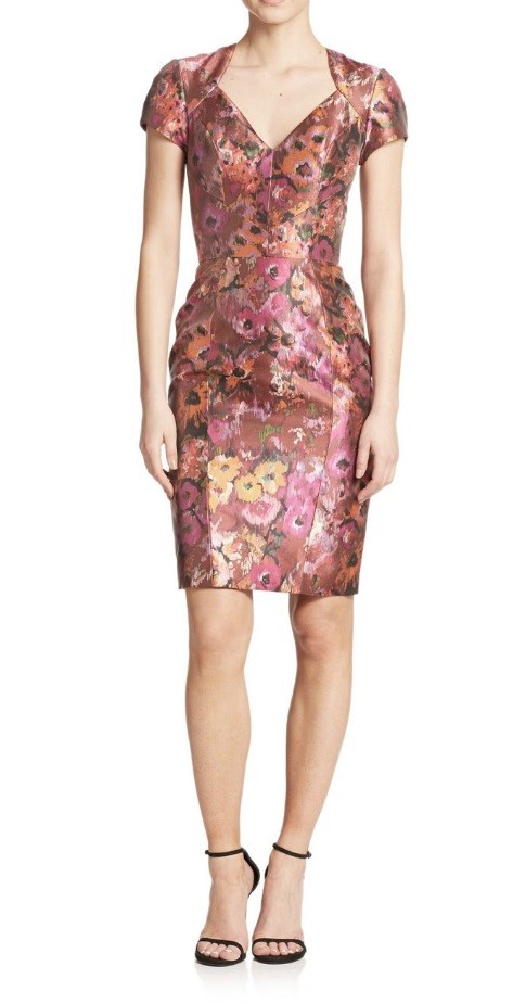 платье с цветочным принтом 2015 Theia