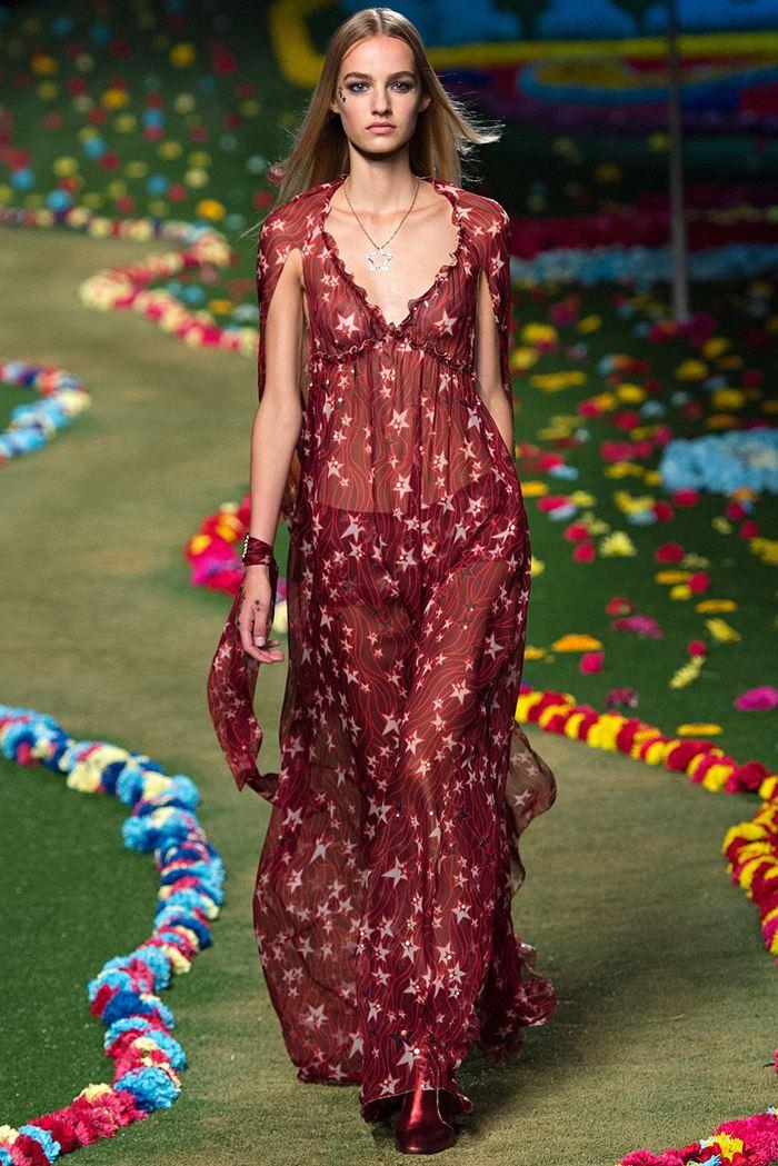 Tommy Hilfiger красное шифоновое платье весна-лето 2015