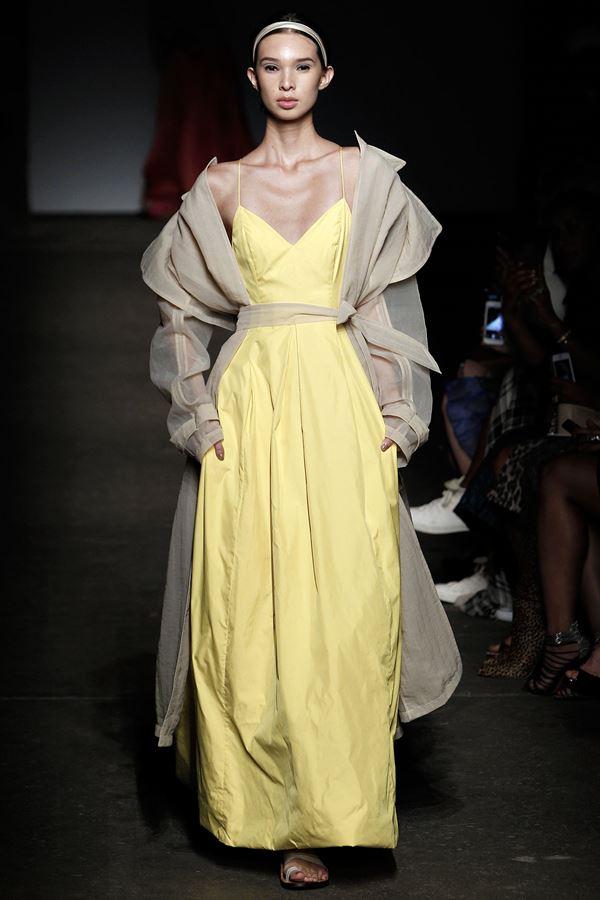 Tracy Reese желтое платье весна-лето 2015