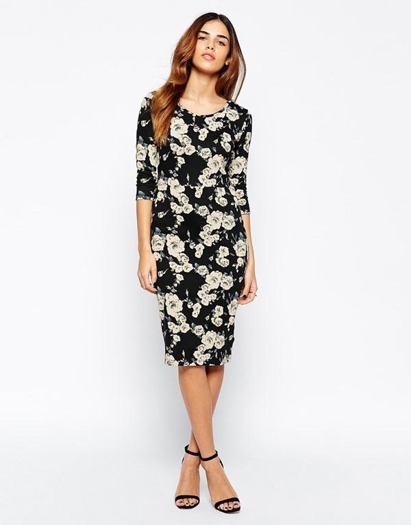 платье с цветочным принтом 2015 Vero Moda
