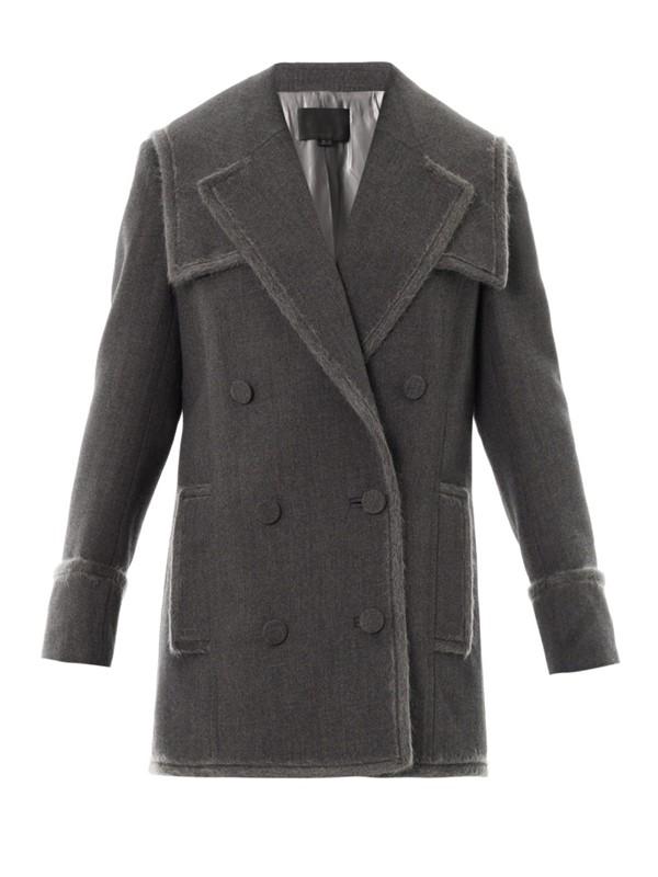 alexander wang серое пальто-бушлат 2015