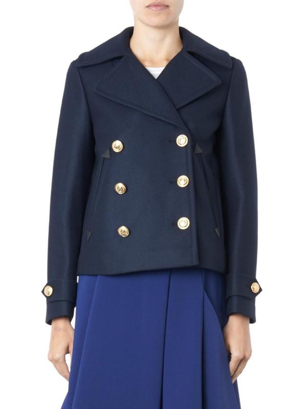 Altuzarra синее двубортное пальто-бушлат 2015