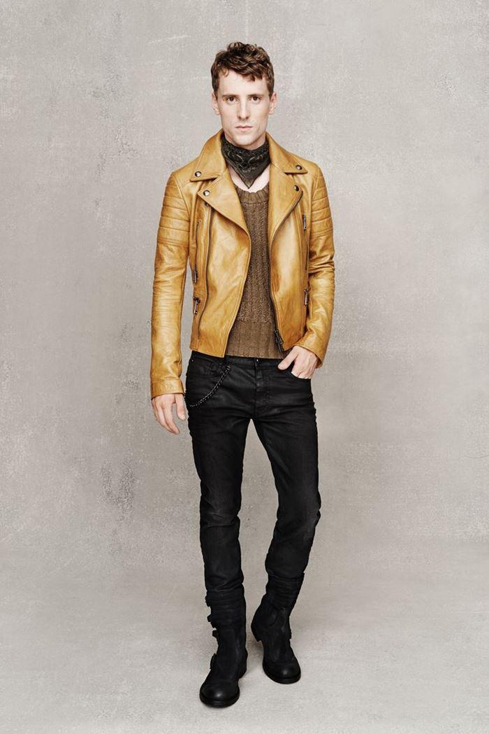 Belstaff  мужская кожаная куртка косуха весна-лето 2015