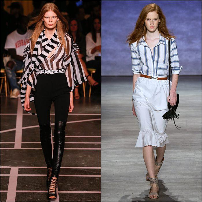 Рубашки и блузки в полоску весна лето 2015