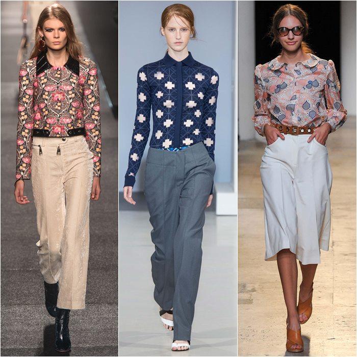 Блузки и рубашки с принтом весна лето 2015