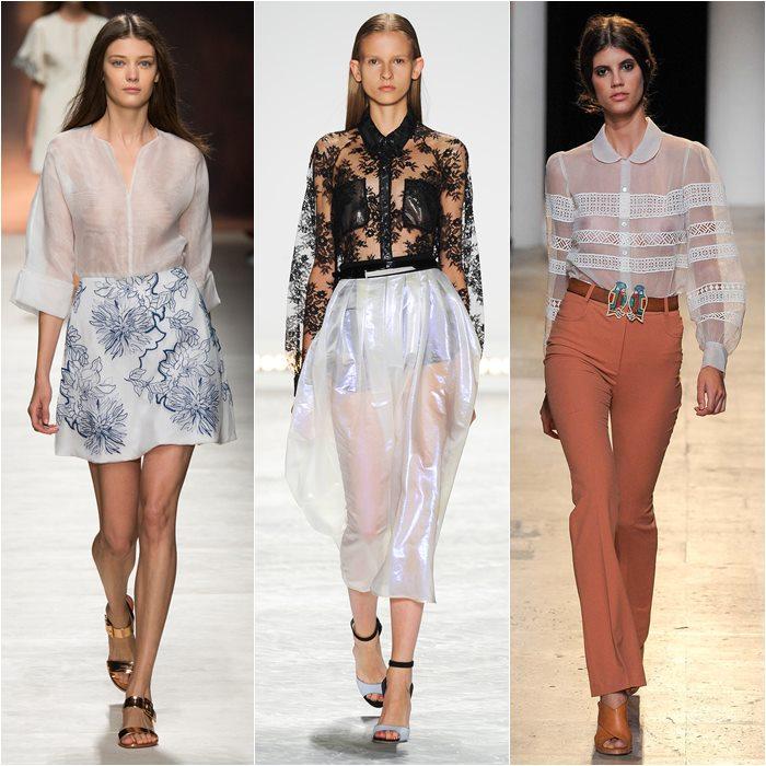 Прозрачные блузки весна лето 2015