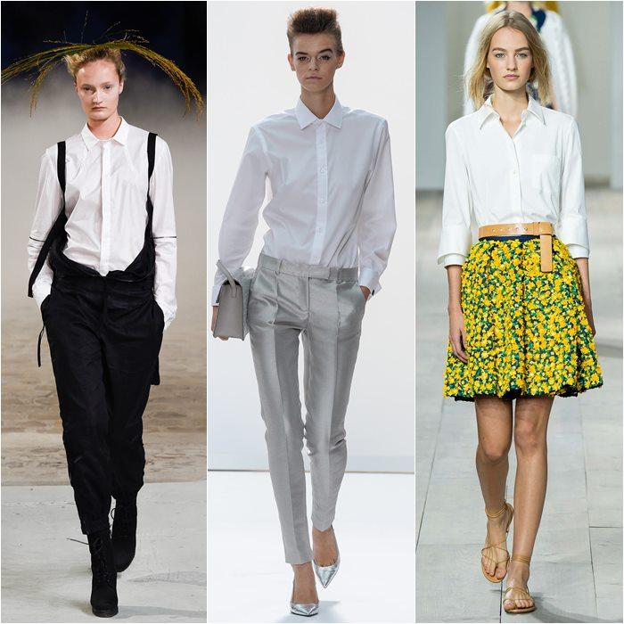 Классические белые рубашки  весна лето 2015