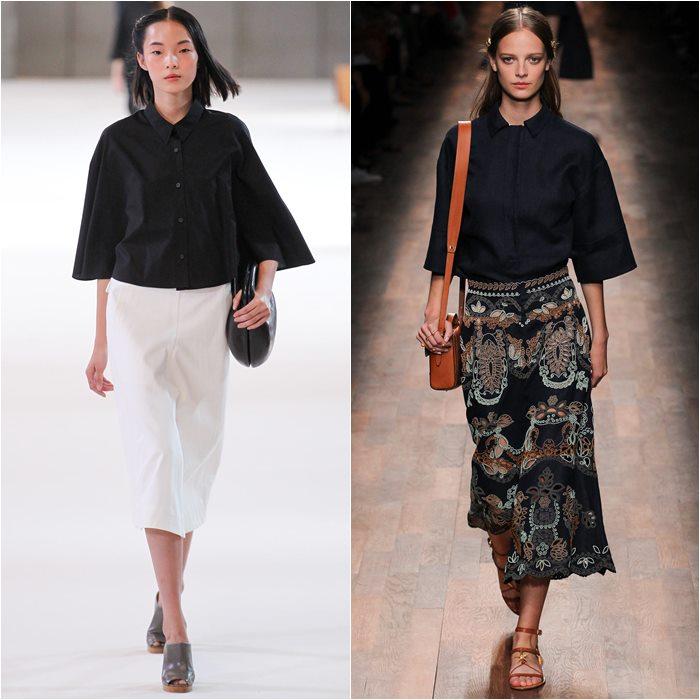 Черные блузки и рубашки весна лето 2015