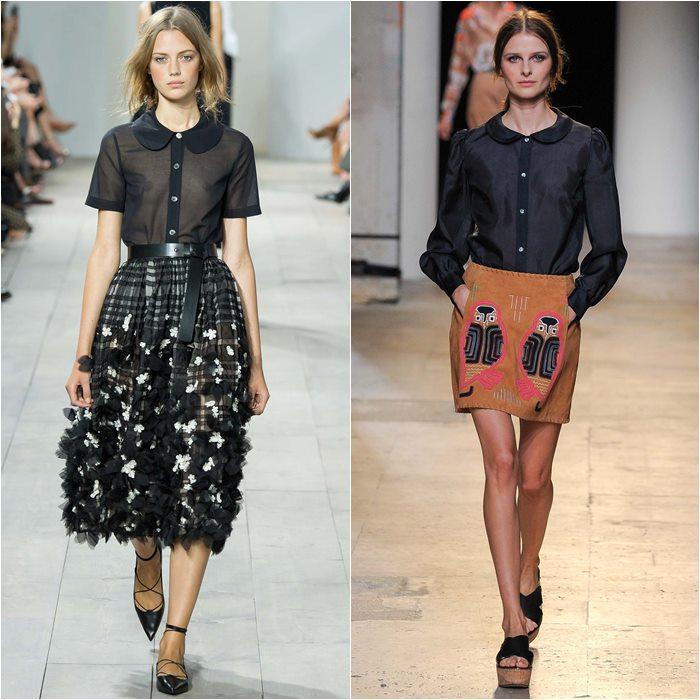 Черные блузки весна лето 2015