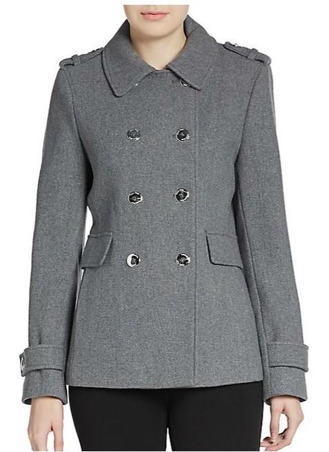 Сalvin Klein серое двубортное  пальто-бушлат 2015
