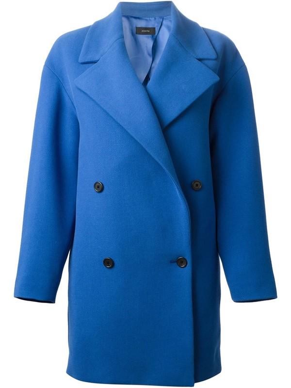 Joseph ярко-синее  пальто-бушлат 2015