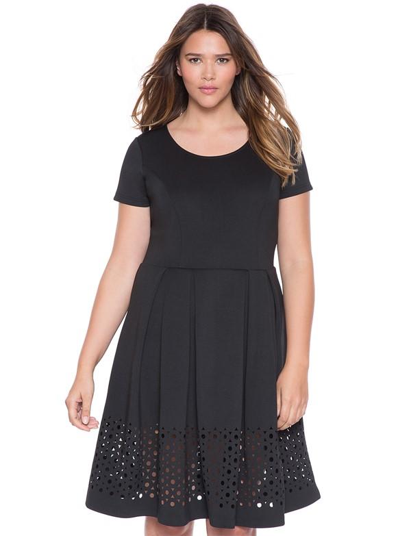 плиссированное коктейльное платье для полных 2015